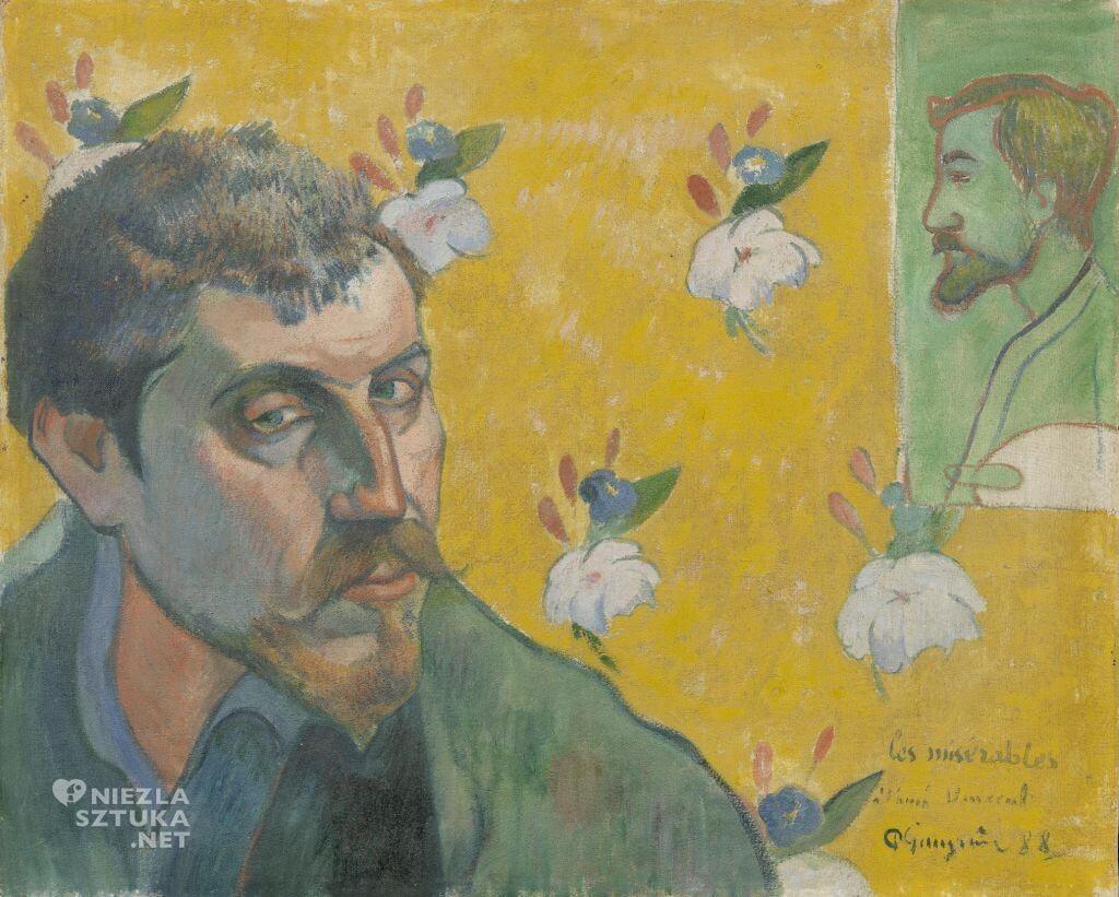 Paul Gauguin, Autoportret z portretem Émile'a Bernarda, malarstwo, japonizm, Niezła Sztuka