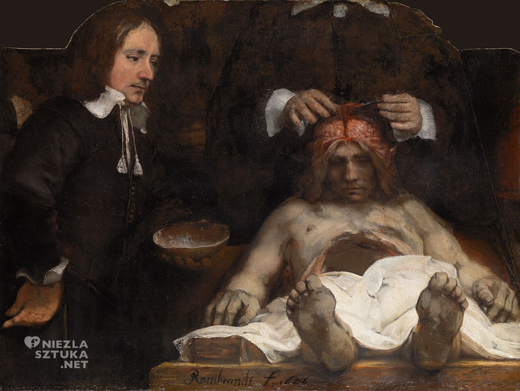 Rembrandt, Lekcja anatomii dr Deijmana, 1656, Amsterdam Museum, Niezła sztuka