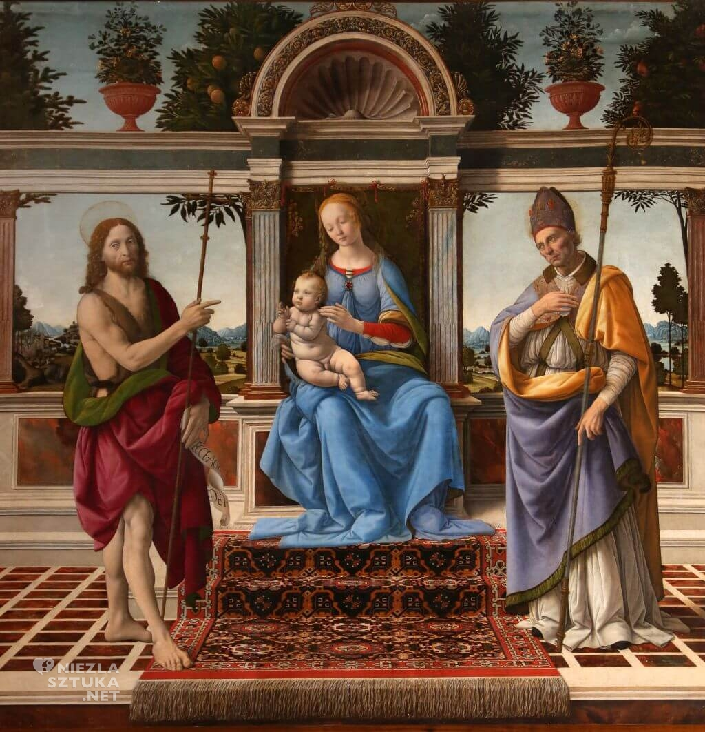 Andrea del Verrocchio, Lorenzo di Credi, Madonna di Piazza, sztuka włoska, Niezła sztuka