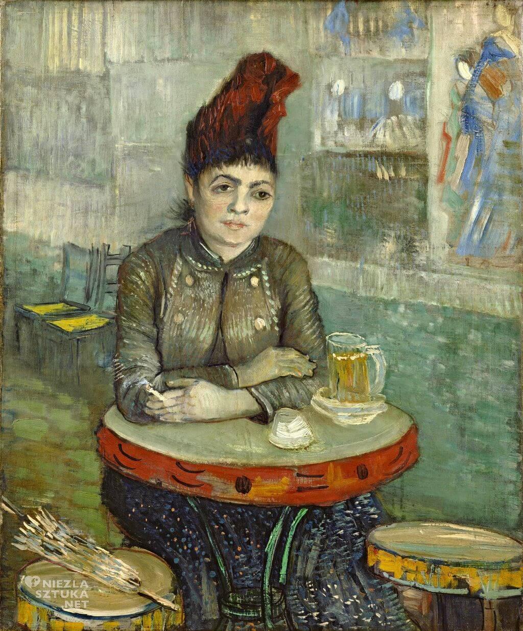 """Vincent van Gogh, W kawiarni: Agostina Segatori w """"Le Tambourin"""", malarstwo holenderskie, Niezła Sztuka"""