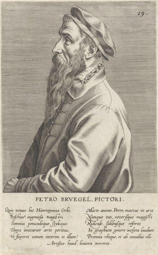 Johannes Wierix, Pieter Bruegel Starszy, Rijksmuseum, Amsterdam, Niezła sztuka
