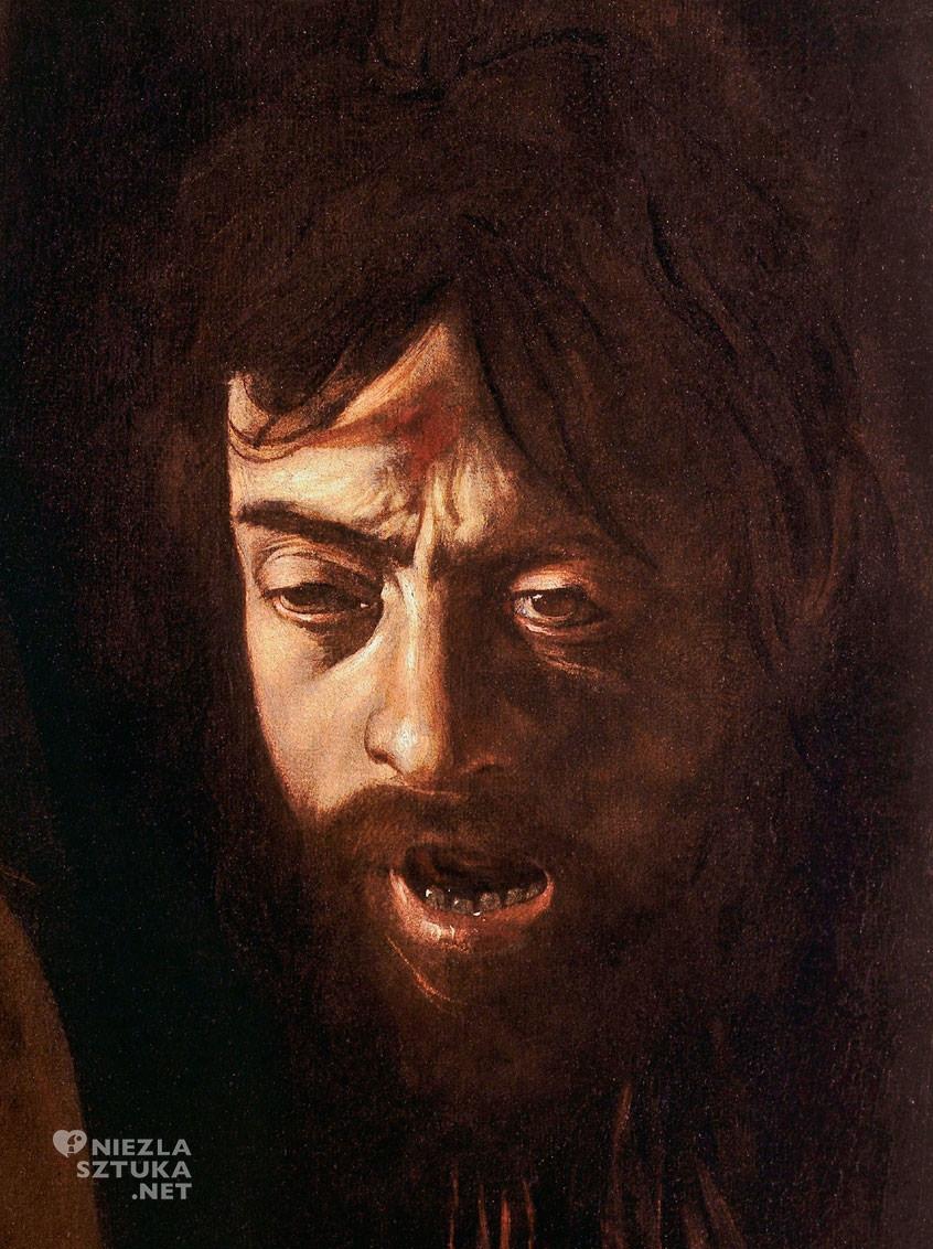 Caravaggio, Autoportret, Dawid z głową Goliata, Galeria Borghese, Rzym, sztuka włoska, Niezła sztuka
