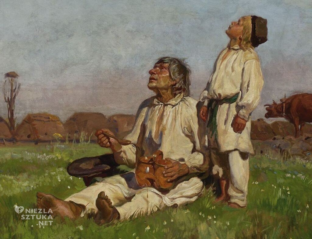 Józef Chełmoński, Bociany, malarstwo polskie, sztuka polska, Niezła sztuka
