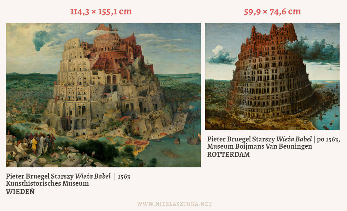 Pieter Bruegel Wieże Babel - porównanie, fot. Niezła sztuka