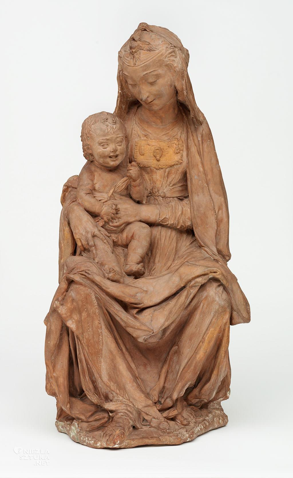 Leonardo da Vinci, Madonna ze śmiejącym się Dzieciątkiem, rzeźba, sztuka włoska, Niezła sztuka