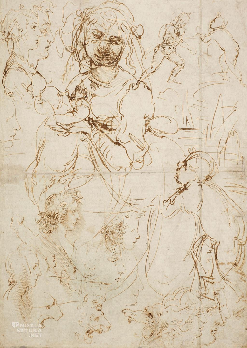 Leonardo da Vinci, Studium Madonny karmiącej
