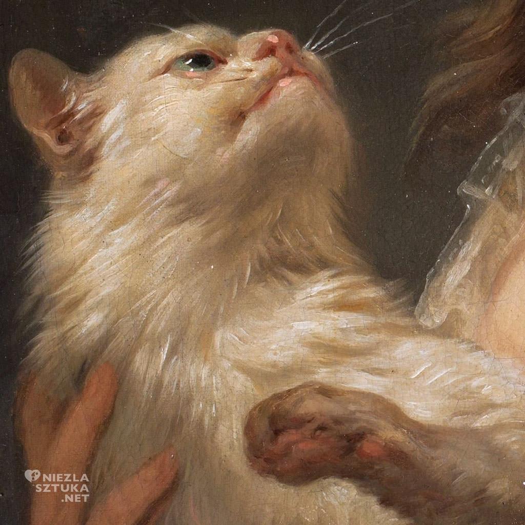 Marcello Bacciarelli, Portret Julii z Duhamelów Manteuffel z kotem, dziecko w sztuce, dziecko w malarstwie, Niezła sztuka