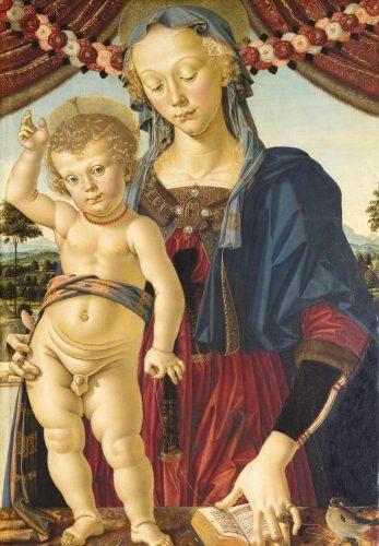 Pietro Perugino, Madonna z Dzieciątkiem, sztuka włoska, Niezła sztuka