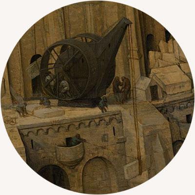 Pieter Bruegel Starszy, Wieża Babel, 1563, Kunsthistorisches , Museum, Wiedeń, Niezła sztuka