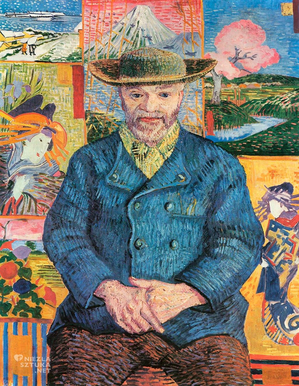 Vincent van Gogh, Portret Ojca Tanguy, malarstwo holenderskie, japonizm, Niezła Sztuka