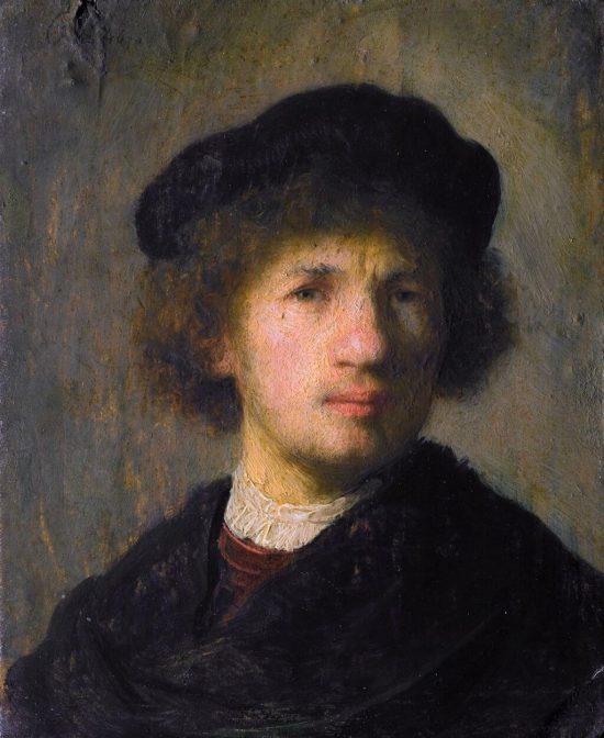 Rembrandt, Autoportret, 1630, Nationalmuseum, Stockholm, Niezła sztuka