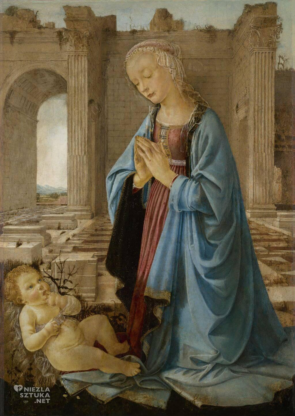 Domenico del Ghirlandaio, Madonna adorująca Dzieciątko, Madonna Ruskina, sztuka włoska, Niezła sztuka