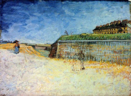 Vincent van Gogh, Fortyfikacje Paryża z domami, malarstwo holenderskie, Niezła sztuka
