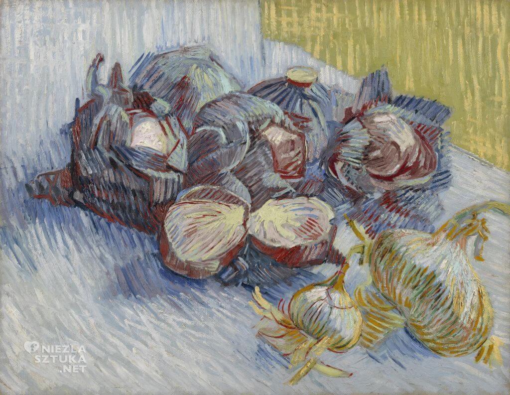Vincent van Gogh, Martwa natura z kapustą i cebulami, malarstwo holenderskie, Niezła Sztuka