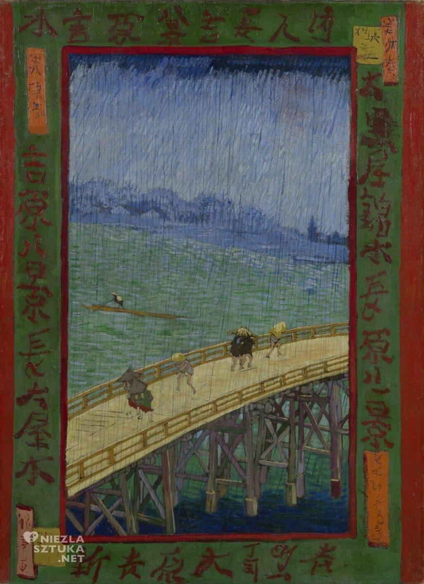 Vincent van Gogh, Most w deszczu, malarstwo holenderskie, japonizm, Niezła Sztuka