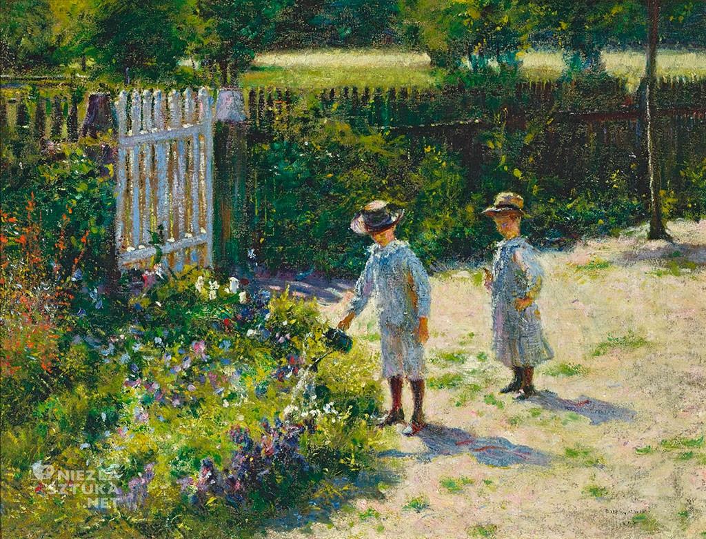 Władysław Podkowiński, Dzieci w ogrodzie, Muzeum Narodowe w Warszawie, dziecko w sztuce, sztuka polska, Niezła sztuka