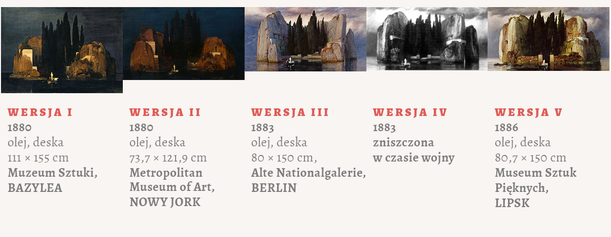 Arnold Böcklin wyspa umarłych zestawienie wersji, Niezła sztuka