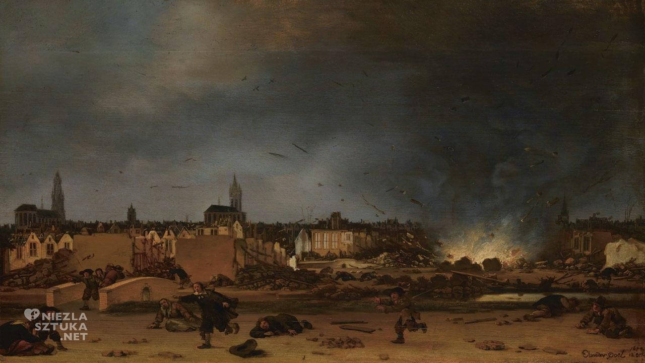 Egbert Lievensz van der Poel, Eksplozja w Delft z 1654, National Gallery, Londyn, Niezła sztuka