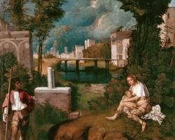 Giorgione, Burza, sztuka włoska, malarstwo włoskie, Niezła sztuka