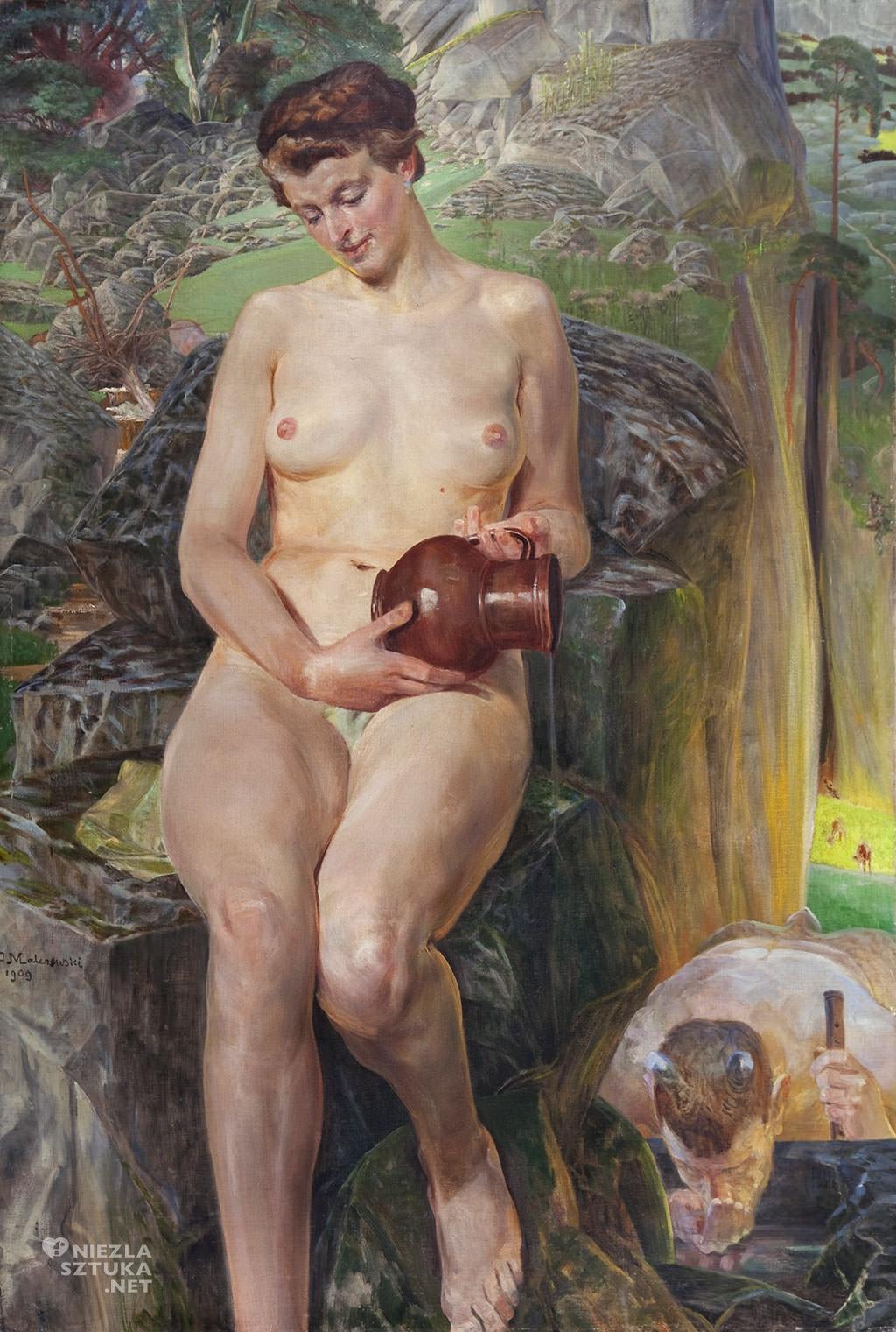 Jacek Malczewski, U źródła prawdy, 1909, kolekcja prywatna, sztuka polska, symbolizm, Niezła sztuka