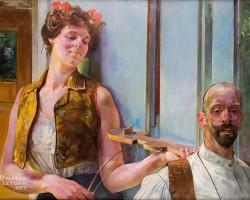 Jacek Malczewski, Zauroczenie, 1906, kolekcja prywatna, sztuka polska, symbolizm, Niezła sztuka