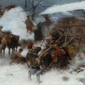 Józef Brandt, Konfederaci barscy, sztuka polska, batalistyka, malarstwo polskie, malarstwo historyczne, Niezła sztuka