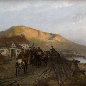 Józef Brandt, Nad Dniestrem, sztuka polska, batalistyka, malarstwo polskie, malarstwo historyczne, Niezła sztuka