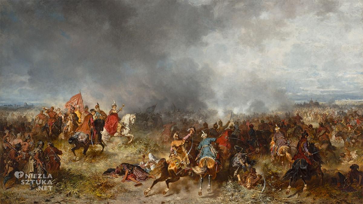 Józef Brandt, Chodkiewicz pod Chocimiem, sztuka polska, batalistyka, malarstwo polskie, malarstwo historyczne, Niezła sztuka