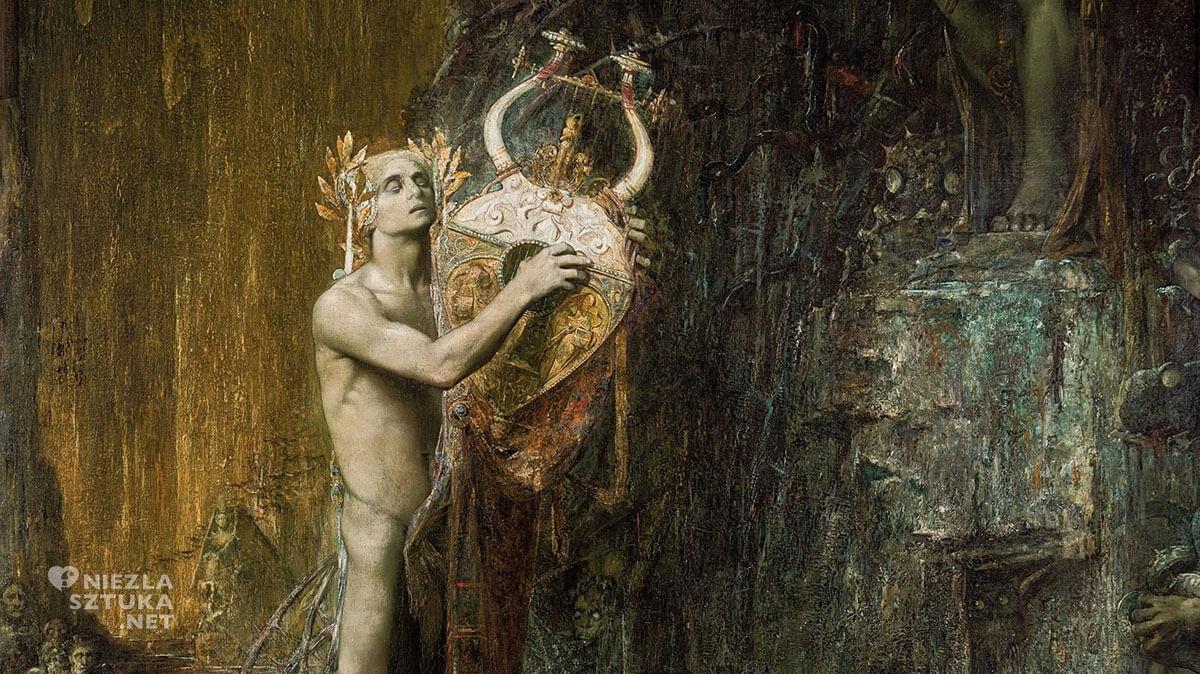 Pierre Amédée Marcel-Béronneau, Orfeusz w Hadesie, symbolizm, eurydyka, Musee des Beaux-Arts, Marsylia, Niezła sztuka