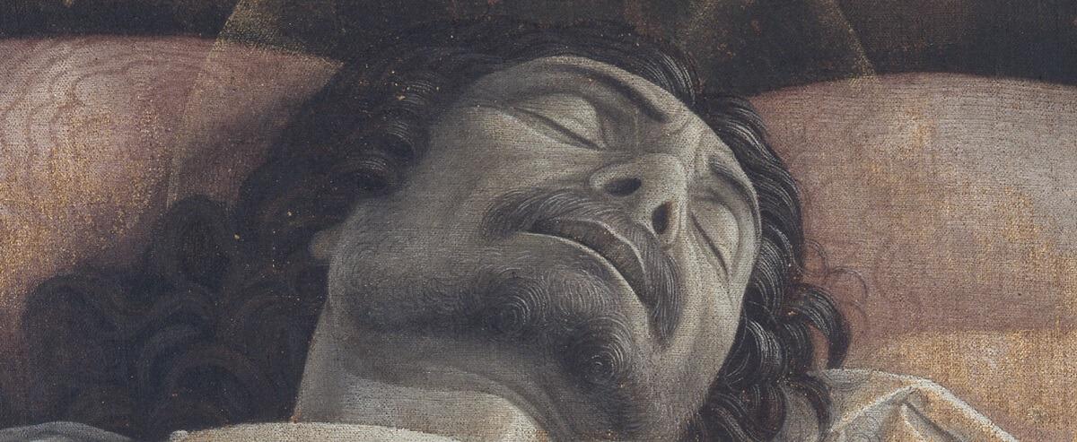 Andrea Mantegna, Opłakiwanie zmarłego Chrystusa, sztuka włoska, Niezła sztuka