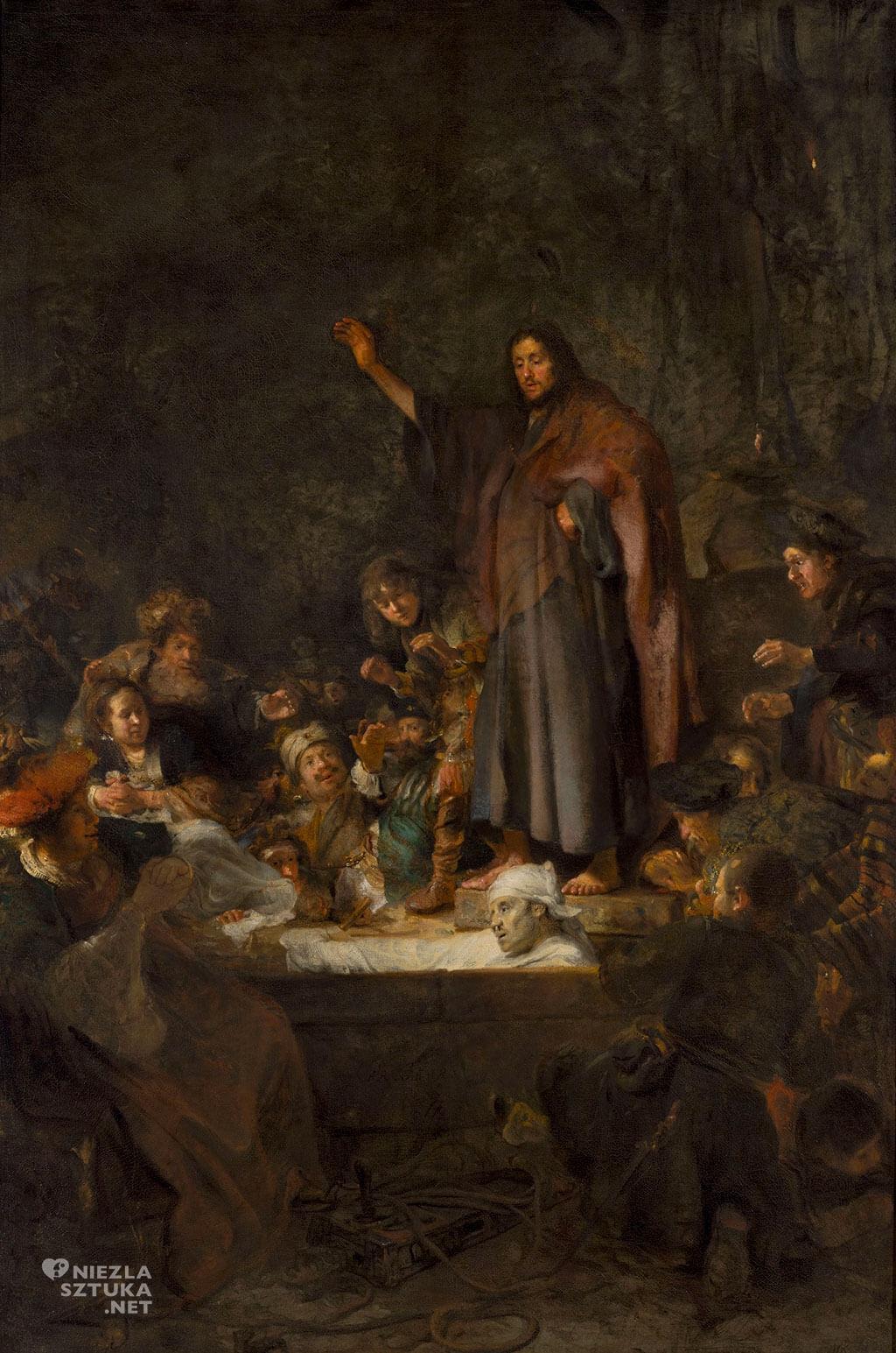 Carel Fabritius, Wskrzeszenie Łazarz, ok. 1645, olej, płótno,Muzeum Narodowe w Warszawie, Niezła sztuka