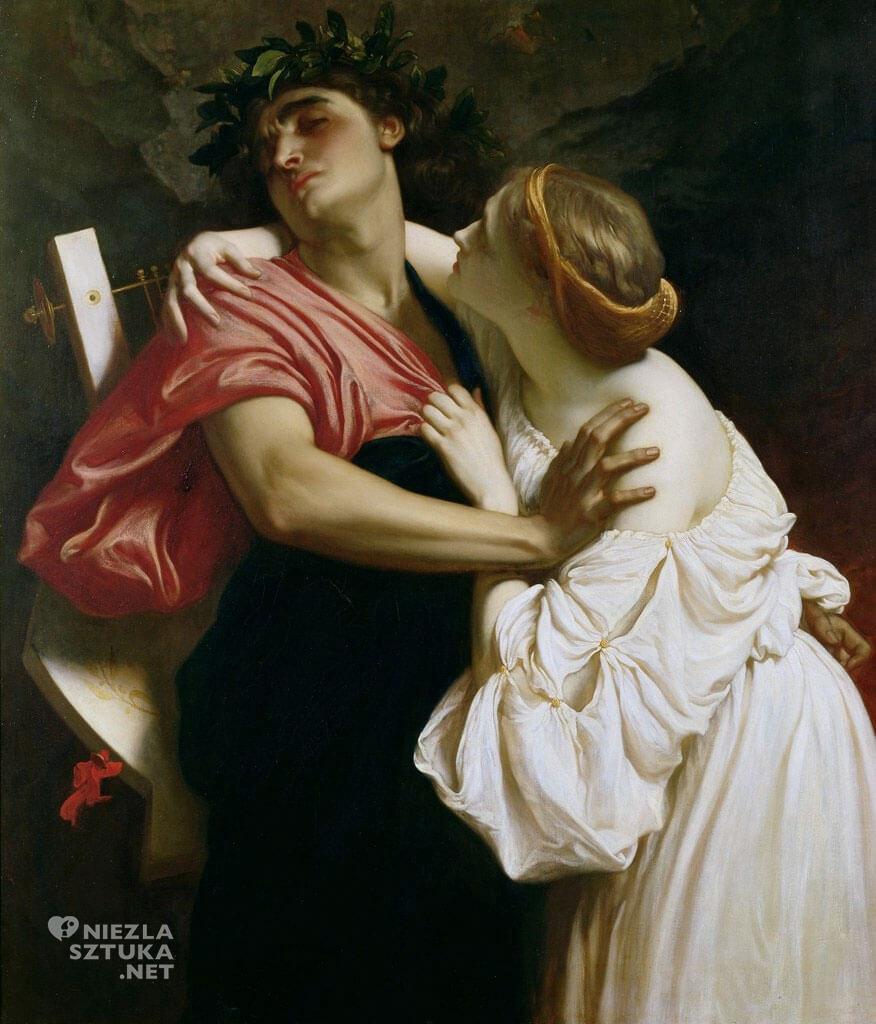 Frederic Leighton, Orfeusz i Eurydyka, 1864, Leighton House Museum, Londyn, Niezła sztuka