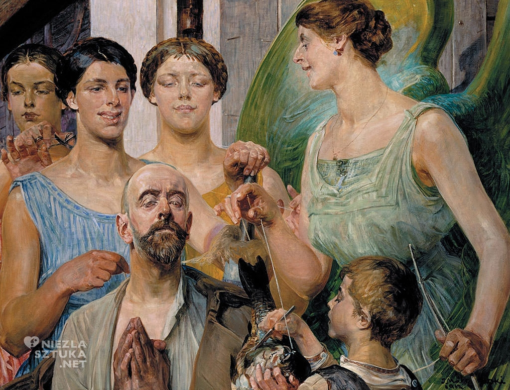Jacek Malczewski, Tobiasz i Parki (Natchnienie), malarstwo polskie, symbolizm, Niezła sztuka