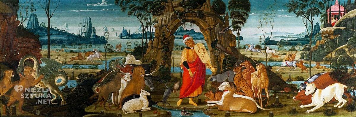 Jacopo del Sellaio Orfeusz grający wśród zwierząt, ok. 1480-1490, Zamek Królewski na Wawelu, Kraków, Niezła sztuka