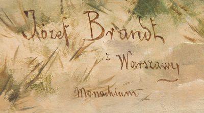 Sygnatura Józefa Brandta, Powrót z targu, Desa Unicum, Niezła sztuka