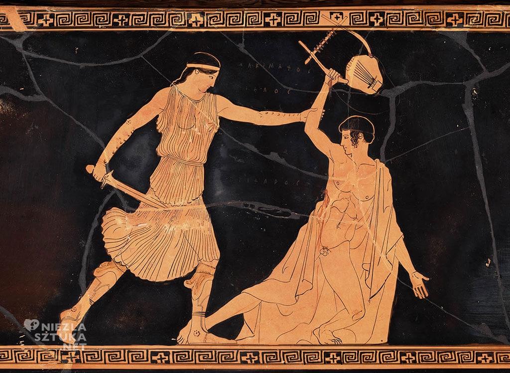 Grecka waza przedstawiająca śmierc Orfeusza, 450-440 pn.e., Museum of Fine Arts, Boston, Niezła sztuka