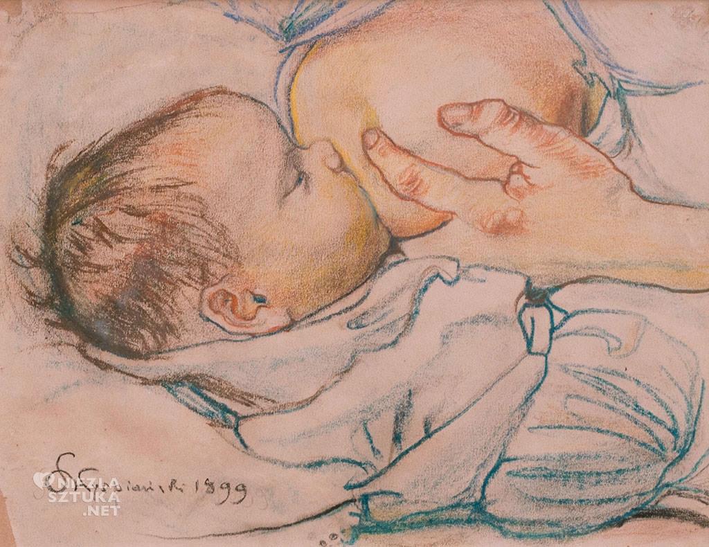 Stanisław Wyspiański, Dziecko przy piersi, dziecko w sztuce, sztuka polska, Niezła sztuka