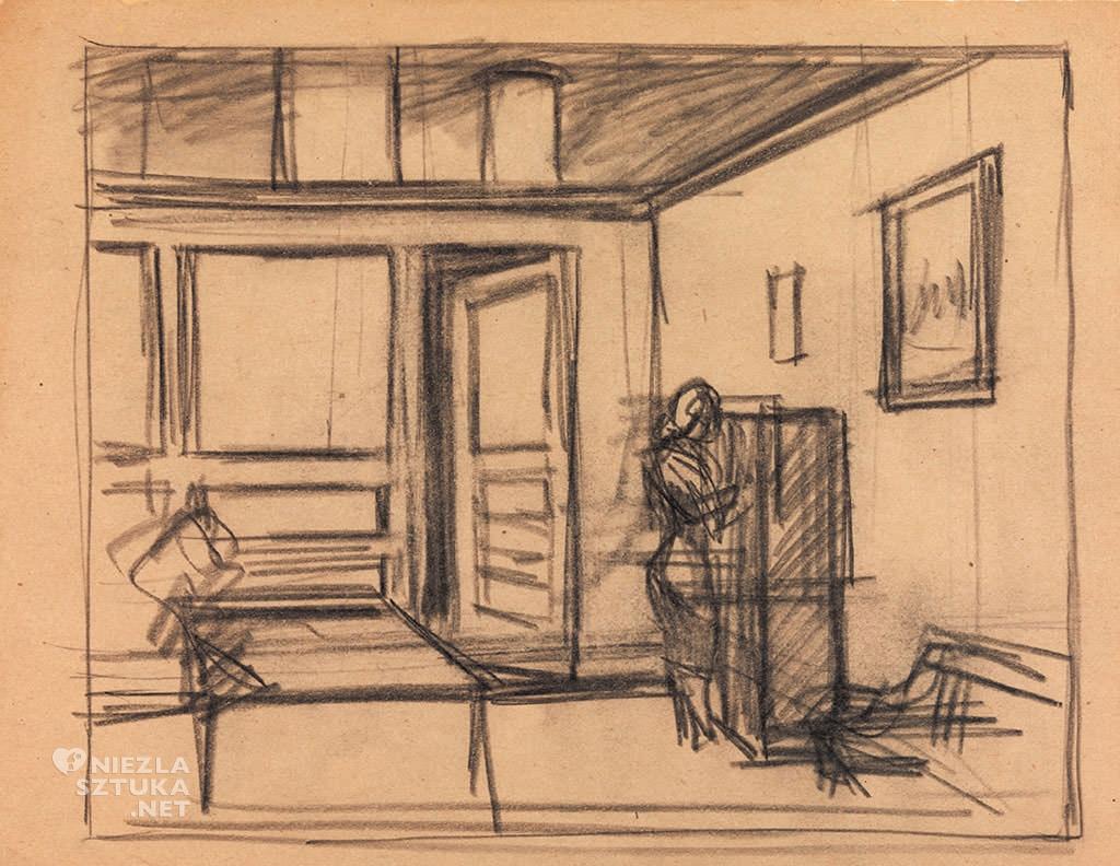Edward Hopper, Office at night, modernizm, olej na płótnie, malarstwo amerykańskie, Niezła Sztuka