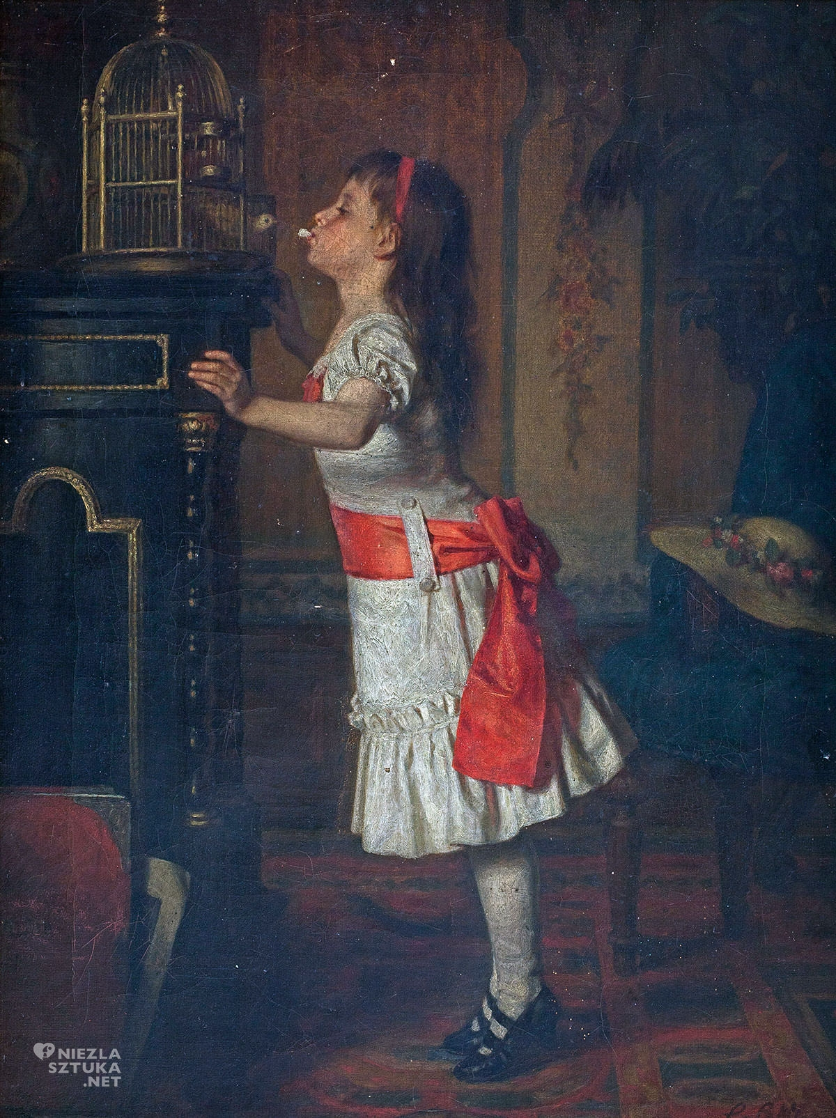 Leopold Löffler, Dziewczynka z kanarkiem, Niezła Sztuka