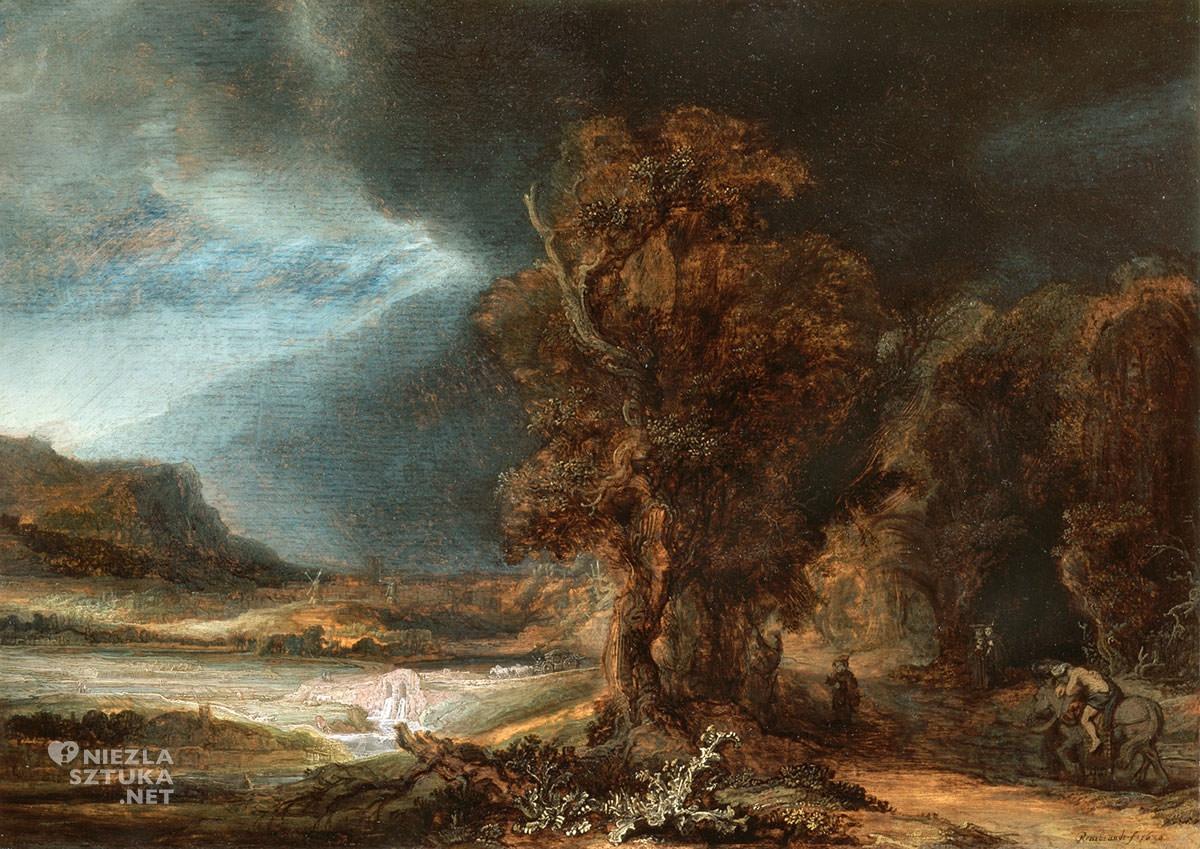 Rembrandt, Pejzaż z miłosiernym Samarytaninem, Niezła Sztuka