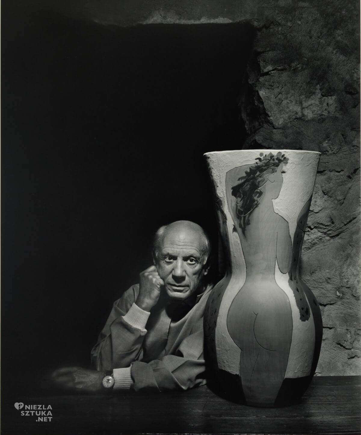 Yousuf Karsh, Pablo Picasso, 1954, fotografia, portret, Niezła Sztuka