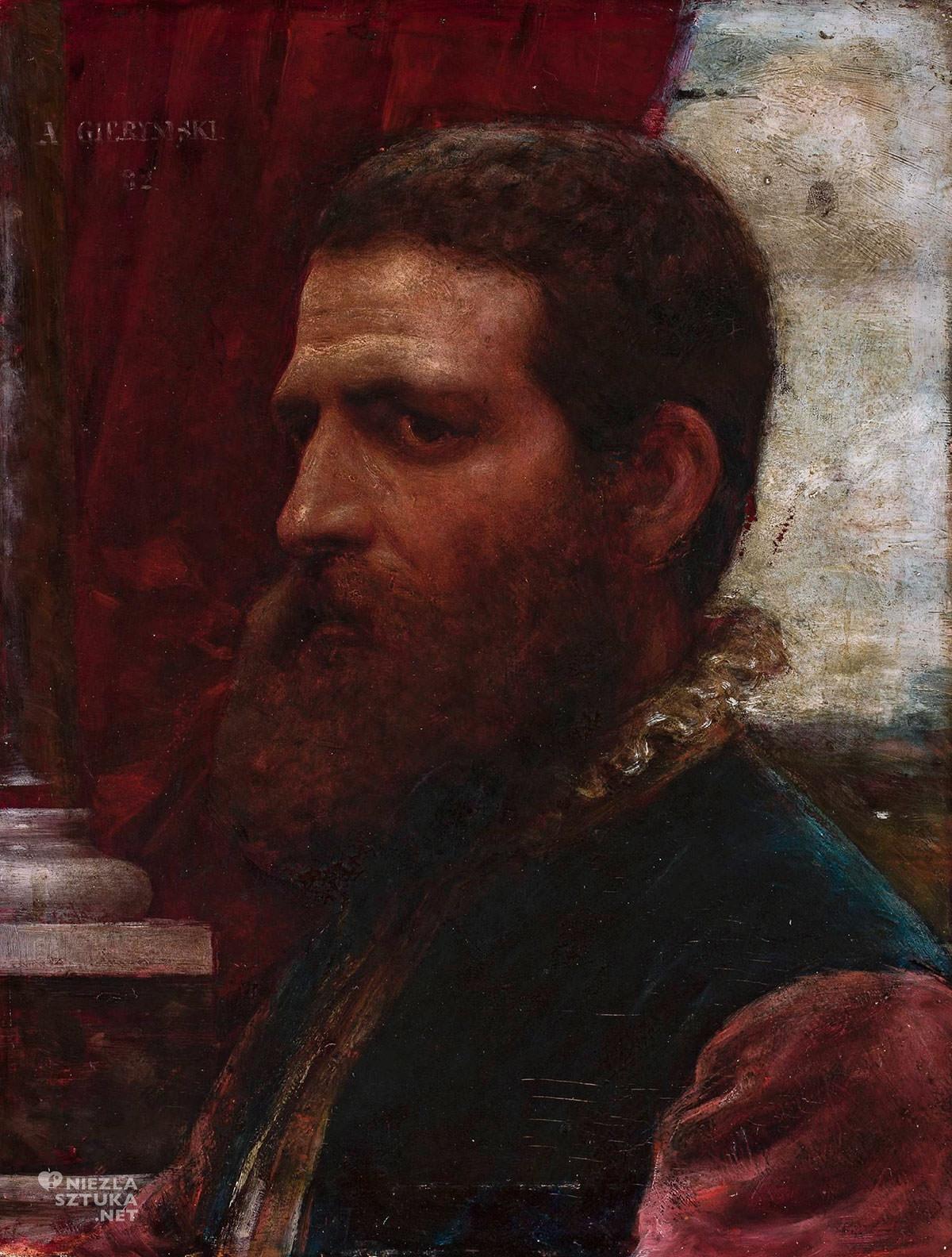Aleksander Gierymski, Popiersie w renesansowym stroju, malarstwo polskie, Muzeum Narodowe w Warszawie, Niezła sztuka