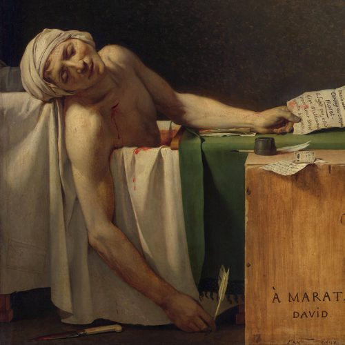 Jacques Louis David, Śmierć Marata, niezła sztuka