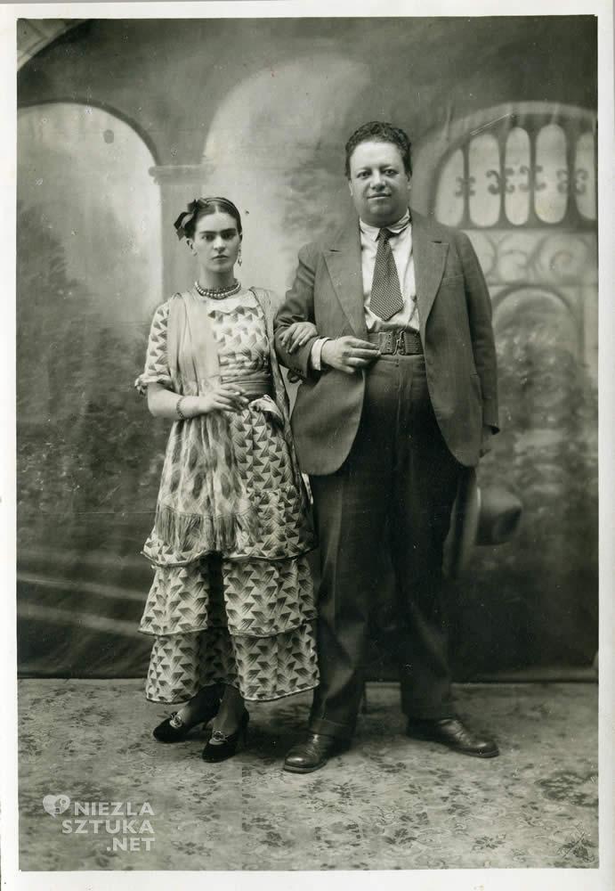 Victor Reyes, Frida Kahlo, Diego Rivera, zdjęcie ślubne, ślub, Niezła sztuka