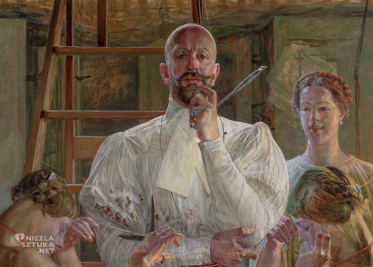 Jacek Malczewski, Pożegnanie z pracownią, symbolizm, mitologia, autoportret, sztuka polska, Niezła Sztuka