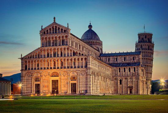 katedra Piza, krzywa wieża w Pizie, Piza, włoska architektura, architektura romańska, Łukasz Małkiewicz, Niezła sztuka