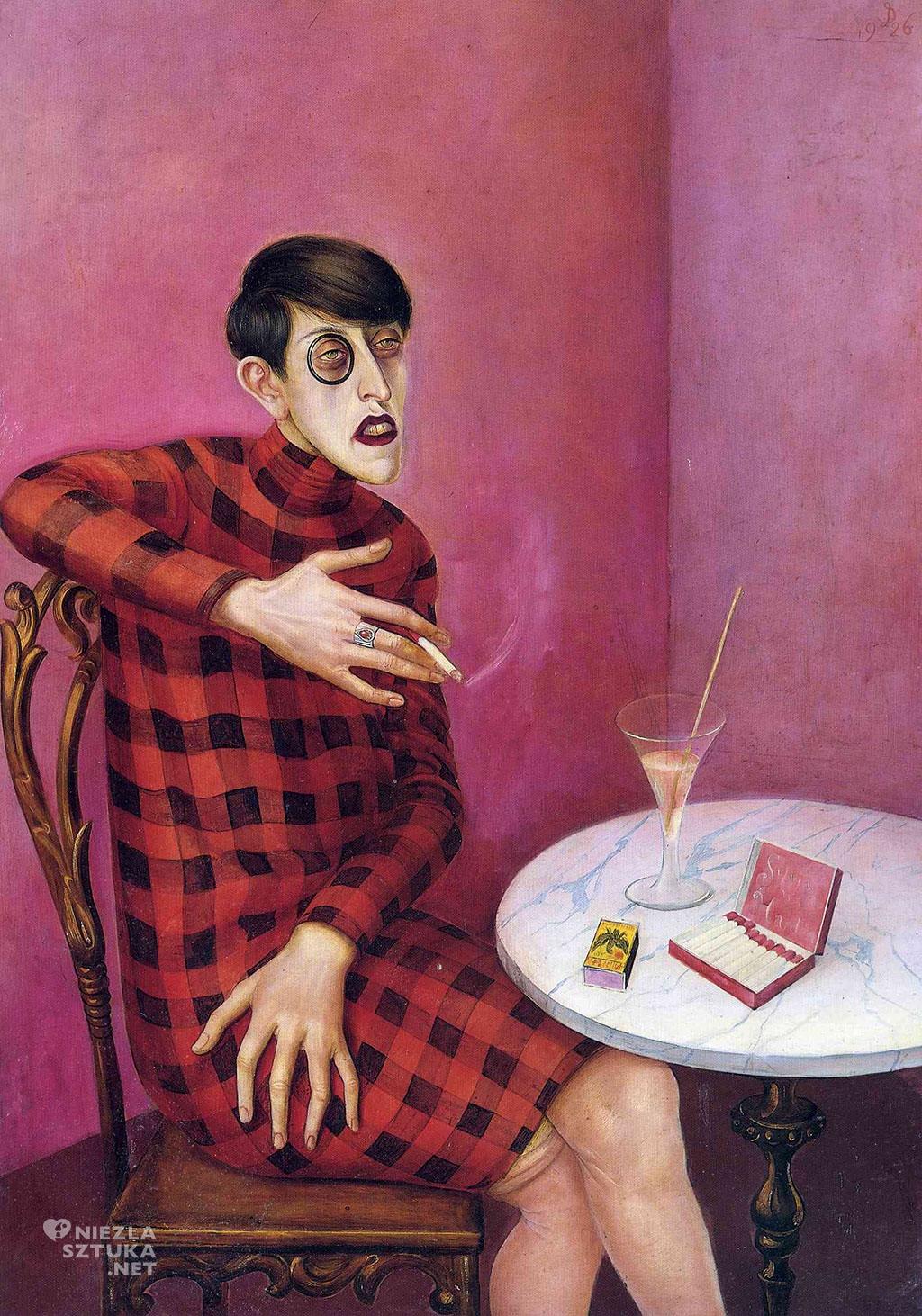 Otto Dix, Portret dziennikarki Sylvii von Harden. portret, portret kobiecy, kobieta w sztuce, neue frau, sztuka niemiecka, Niezła Sztuka