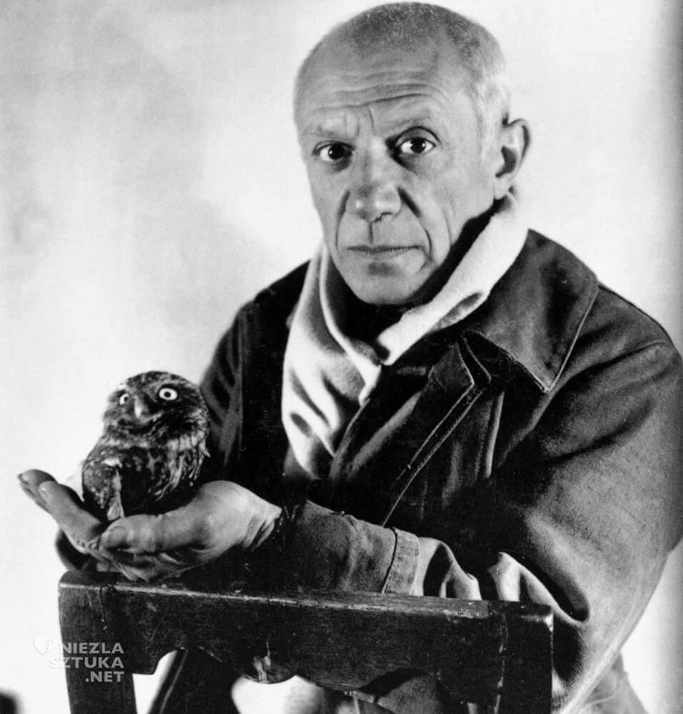 Picasso i sowa, Michel Sima, fotografia, portret, Niezła Sztuka