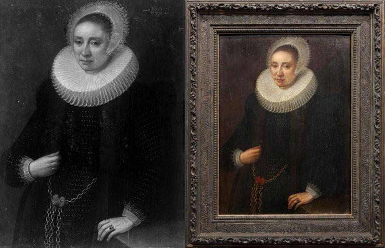 Melchior Geldorp, Portret damy, Muzeum Narodowe w Warszawie, dzieła odzyskane, Niezła sztuka