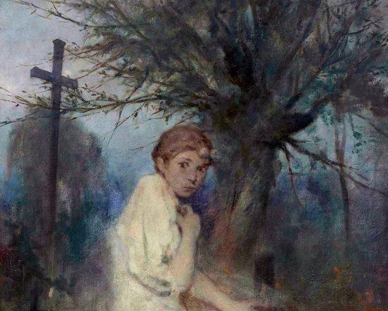 Witold Pruszkowski, Zaduszki, sztuka polska, malarstwo polskie, Niezła Sztuka